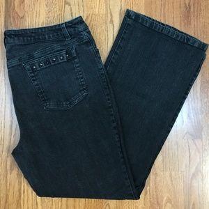 Jones New York Signature Stretch Black Jeans 14